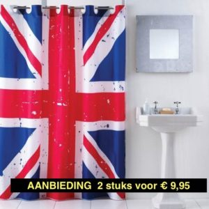 AA - Sealskin Douchegordijn Union Jack AANBIEDING 2 stuks € 9,95