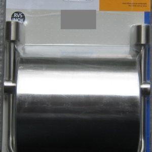 Toiletrolhouder met klep RVS