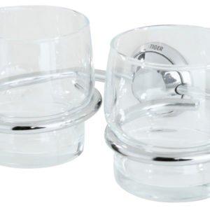 Bekerhouder met glas dubbel Torino