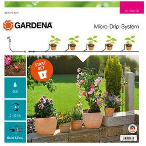 GARDENA Micro Drip System startset – Geschikt voor 5 bloempotten
