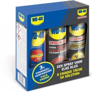 Wd-40 Multi-use / Kruipolie / Siliconenspray 3 In 1 Set 250 ml.