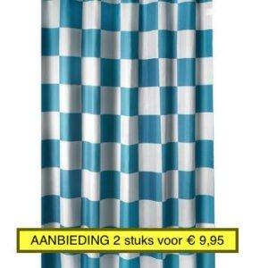 AA - GAMMA Douchegordijn Amber blok AANBIEDING 2 stuks € 9,95