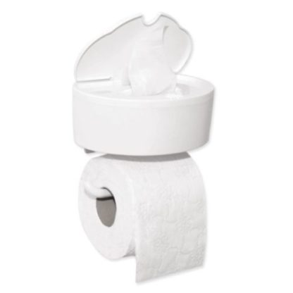Toiletrolhouder met dispenser vochtig toiletpapier Inno B Smart