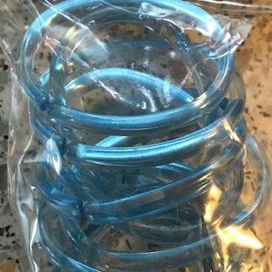 Douchegordijnringen Sealskin Clips 12 stuks Blauw / transparant