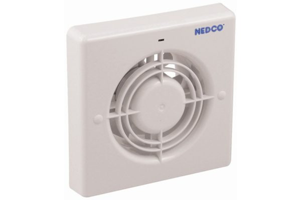 NEDCO Inbouw Ventilator CR125AT-Timer+Lammellen