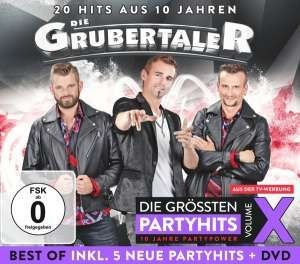 GRUBERTALER - Das Beste aus 10 Jahren Party-Vol.10 (CD & DVD)
