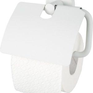 Haceka Kosmos Wit – Toiletrolhouder met klep