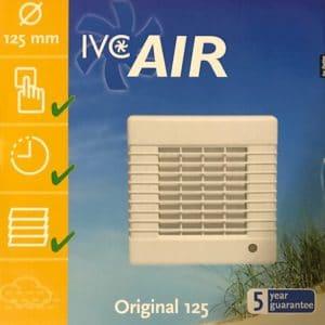 IVC Air Inbouw Ventilator 125 mm-Timer