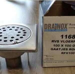Drainox vloerput RVS 10 X 10 x 40 mm.