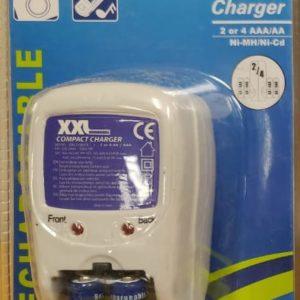 XXL Batterijoplader incl. 2 AAA 1000 NI-MH batterijen