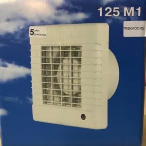 Serviprof Inbouw Ventilator 125 M1 Trekkoord