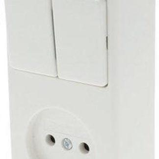Berker Opbouw Combinatie - Serieschakelaar en Stopcontact - Polarwit