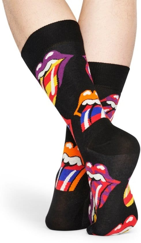 Happy Socks Rolling Stones Out Of Control Sock Zwart 36-40