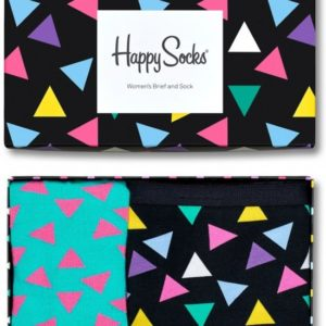 Happy Socks Triangle GiftBox women's Brief and Sock (M)