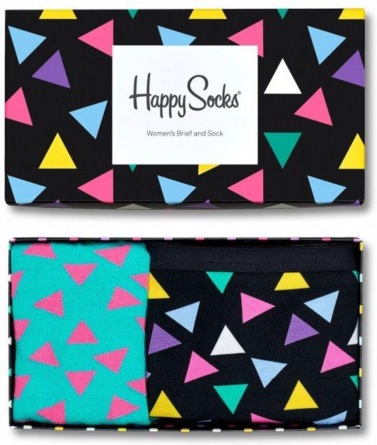 Happy Socks Triangle GiftBox women's Brief and Sock (M)