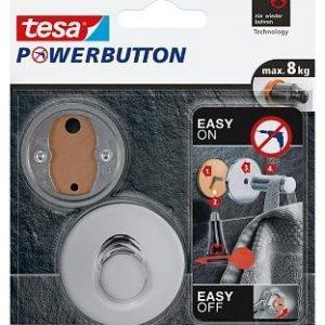 Tesa Powerbutton Premium Haak-Chroom