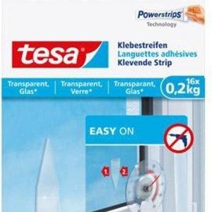 Tesa Powerstrips klevende strips transparant – (16 stuks)