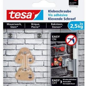 Tesa klevende schroef voor baksteen – 2 x 2.5 kg