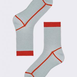 Happy Socks Hysteria-lily-grijs Maat-36-38