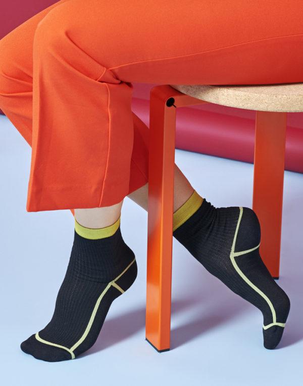 Happy Socks Hysteria-lily-zwart Maat-39-41