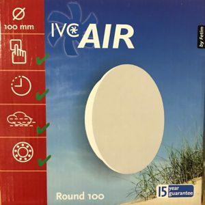 IVC Air Vent.100mm.Rond-Wit-Timer-Vochtsensor