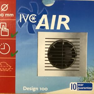 IVC Air Inbouw Ventilator 100 mm-Timer