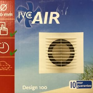 IVC Air Inbouw Ventilator 100 mm-Wit-Timer