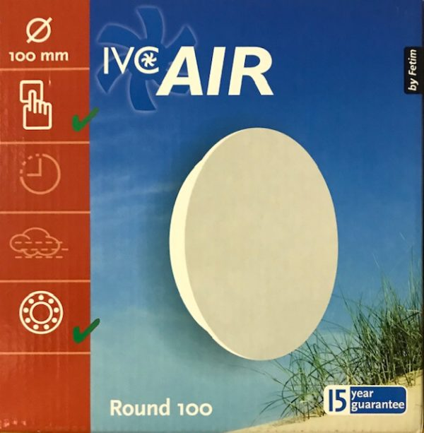 IVC Air Vent.100mm.Rond-Wit-Standaard