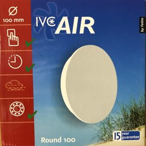 IVC Air Vent.100mm.Rond-Wit-Timer
