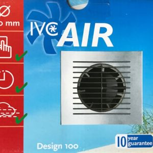 IVC Air Inbouw Ventilator 100 mm-Timer+Vochtsensor