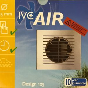 IVC Air Inbouw Ventilator 125 mm-Alu-Timer