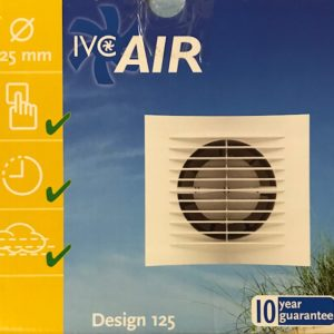 IVC Air Inbouw Ventilator 125 mm Timer+Vochtsensor