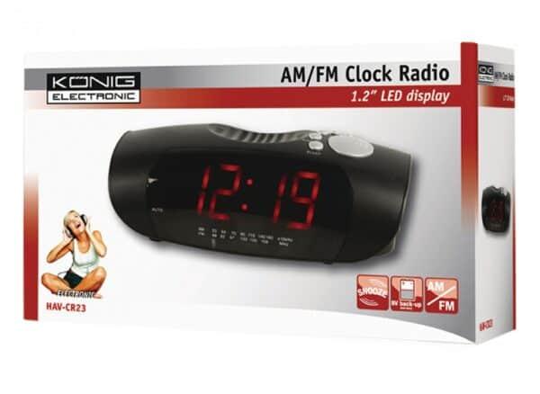 KONIG AM/FM Clock Radio