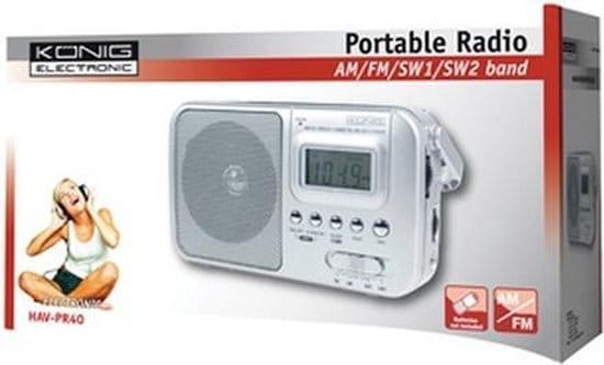 KONIG AM/FM/SW1/SW2 Portable Radio