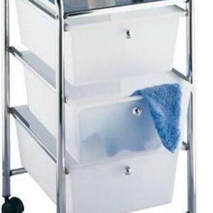 Wenko Messina Bathroom-Trolley 3-laden