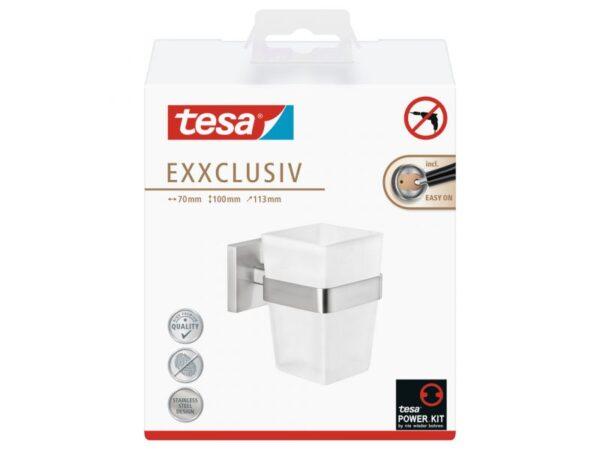 Tesa Exxclusiv Bekerhouder +Glas
