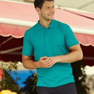 Fruit of the Loom Polo L Mintgroen