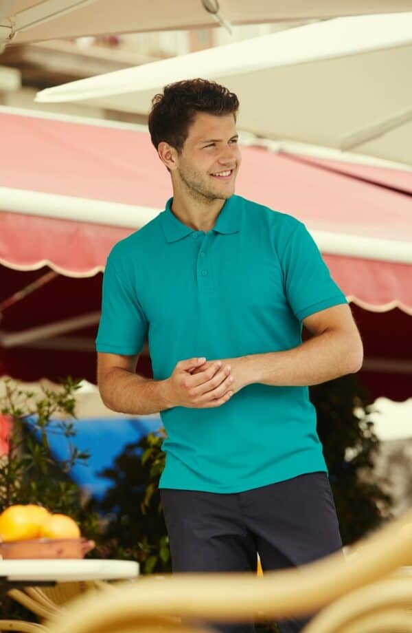Fruit of the Loom Polo M Turquoise