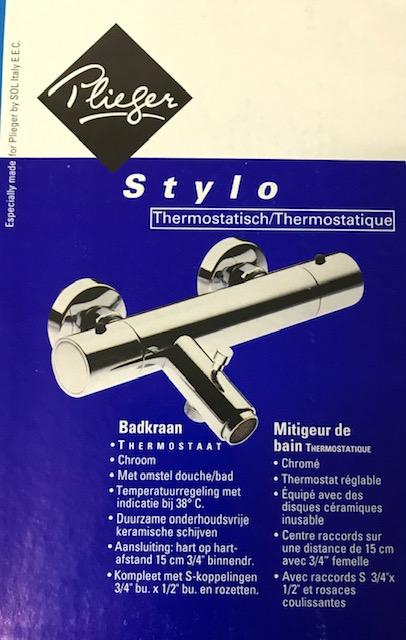 Plieger Stylo thermostatische badkraan