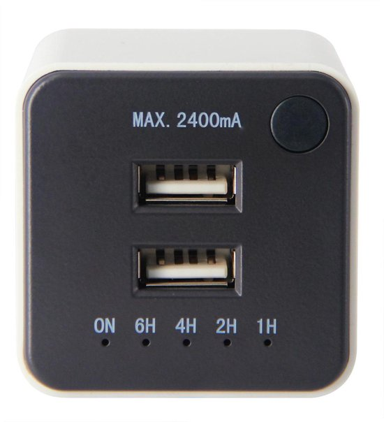 USB-lader met timer 2xUSB