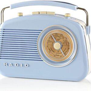Nedis Retro AM/FM radio blauw