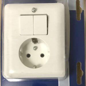 Berker Inbouw combinatie Serieschakelaar+Stopcontact