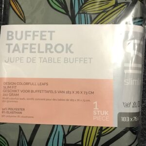 Slimline Buffet-tafelrok Design 183x76x73cm