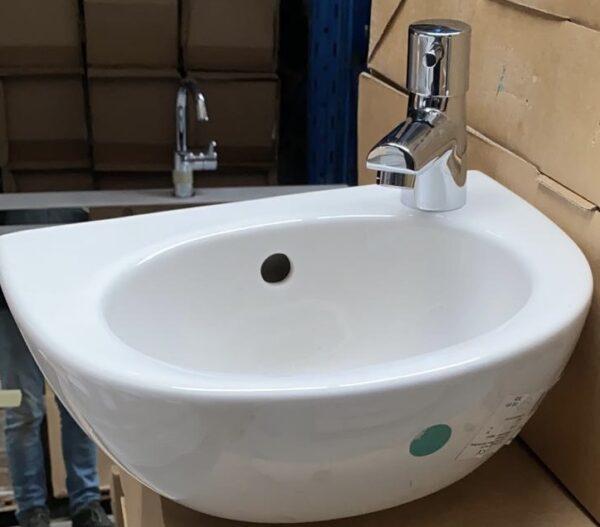 Ideal Standard Eurovit fontein 35cm met kraangat rechts met overloop wit