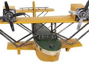 Clayre & Eef Miniatuurmodel Bootvliegtuig