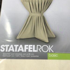 Slimline Sta-tafelrok Basic Creme Ø85cm