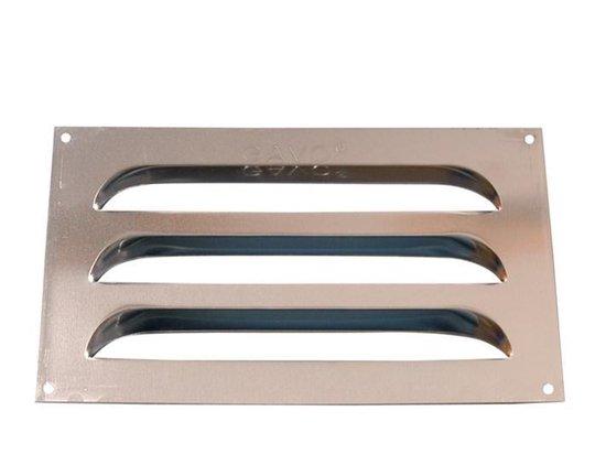 Gavo Schoepenrooster Aluminium 25x15cm