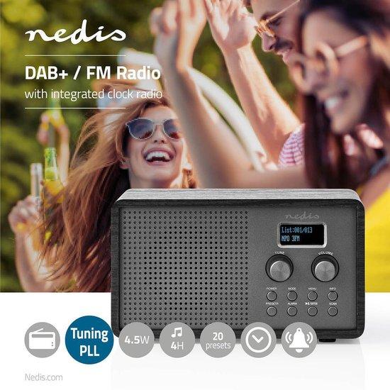 Nedis® DAB+ / FM-radio / Klok-Wekkerfunctie