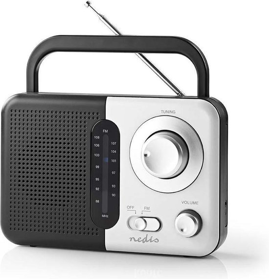 Nedis® FM-radio Zwart-Wit