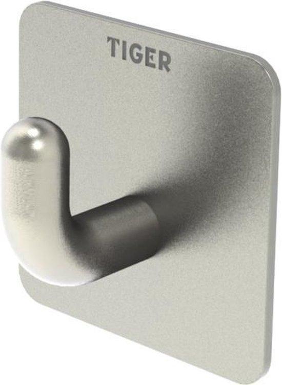 Tiger Haak Pinky RVS (zelfklevend)